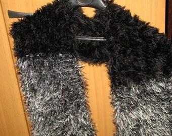 FANCY scarf black and silver grey