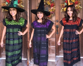 Mexican Dress, Telar Dress, Witch Dress