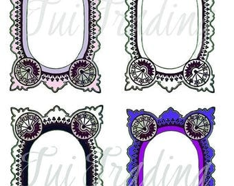 Vector Frames, Victorian Borders, SVG Embellishment, Digital Download, Printable Frame