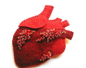Anatomic Heart brooch (piece not replicable)
