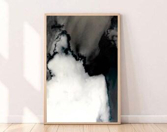 Black White Print Modern Art Extra Large Wall Art Black Abstract Art  Downloadable Prints Black Digital