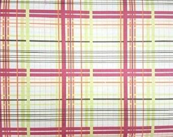 FreeSpirit  Valori Wells, Bridgette Lane Plaid Cotton Fabric  Vw065 Cherry  Remnant