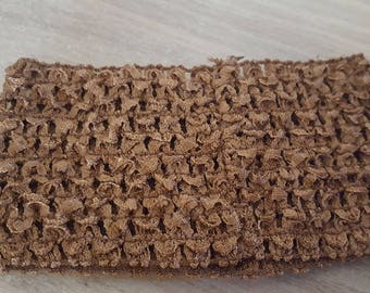 on sale at 2.30 instead of 2.80. Headband wide and soft crocheted Brown for tutus, dresses, hair accessory