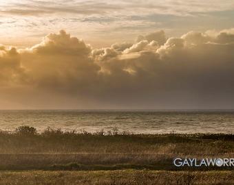 Poplar Beach Storm - Pacific Ocean Sunset California Coast - Fine Art Print - 8x10 11x16, Landscape Photograph
