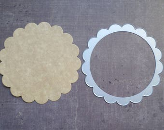 Die cut matrix Sizzix big round scallop