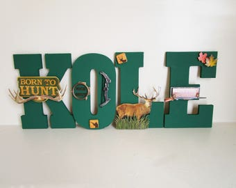 Hunting Theme Letters For Kids, Themed Room Decor, Kids Wall Letters, Deer  Nursery