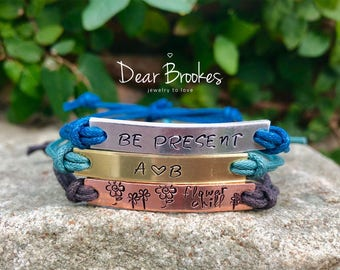 Hand Stamped Bracelet, Stacked Bracelet, Custom Jewelry, Friendship Bracelet, Personalized Bracelet