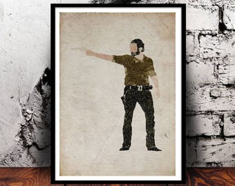 Rick Grimes The Walking Dead Andrew Lincoln zombies walkers AMC TWD creepy
