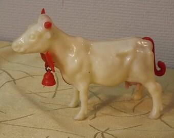 Vache en celluloïd. Marque COMA. Jouet Vintage. Italie