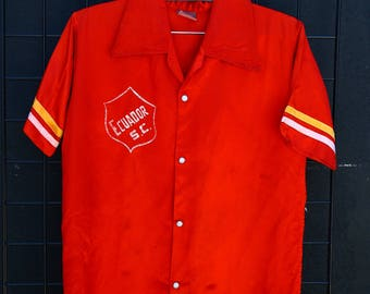0261 Vicel International Red Bowling Shirt