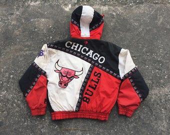 Vintage Pro Player Chicago Bulls NBA Jacket With Hood