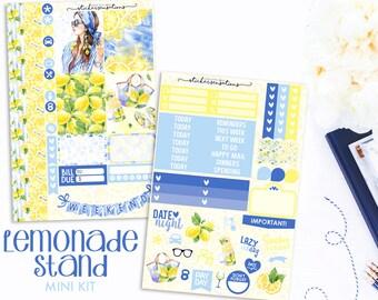 "Weekly Summer Lemonade Planner Stickers ""LEMONADE"" Mini Kit (Erin Condren, Mambi, Happy Planner)"