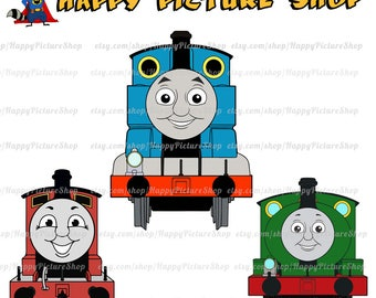 Thomas and Friends SVG  Cutting File in Svg, Eps, Dxf, and Jpeg Format for Cricut and Silhouette INSTANT DOWNLOAD