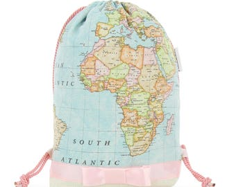 Backpack map mundi am used casual_sweet candy
