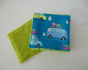 set of 5 wipes fabric cars