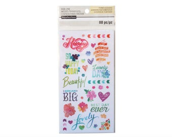 Watercolor Rub-On Stickers By Recollections™