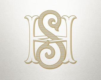 Premade Logo Monogram - HS SH - Premade Logo - Digital