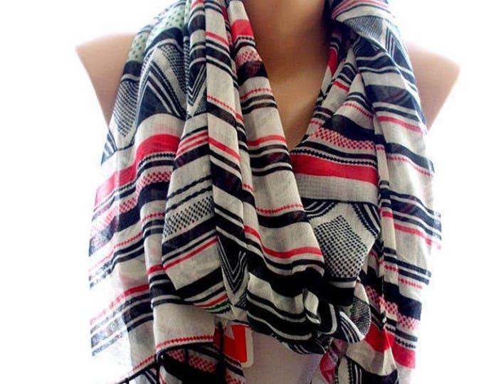 Aztec scarf, scarves for women, cozy scarf, trendy scarf