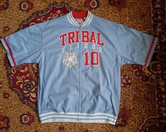 TRIBAL Gear jersey, vintage hip hop t-shirt, 90s hip-hop clothing, 1990s hip hop shirt old school basketball streetwear, gangsta rap size XL