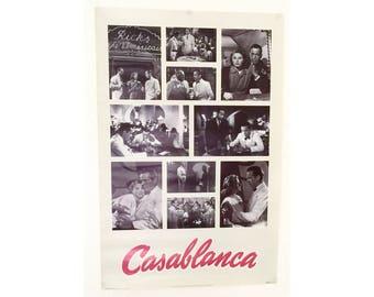 Casablanca Vintage Movie Poster