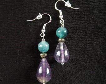 fashion style with fluorite drops earrings