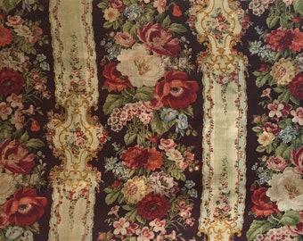 Beautiful 19th C. French Napolean III Wool Challis Fabric (2246)