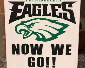 Philadelphia Eagles Fan Sign - Handmade - Can Be Customized for any Teams, Any Sport