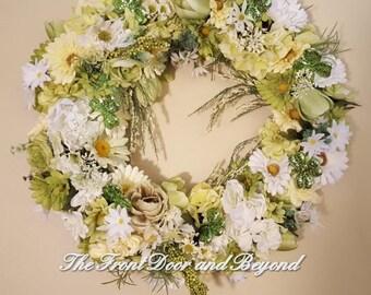 St Patricks Wreath, Shamrock Wreath, Saint Patrick's Wreath, St Patricks Grapevine Floral Wreath, Front Door Wreath for St Patricks Day