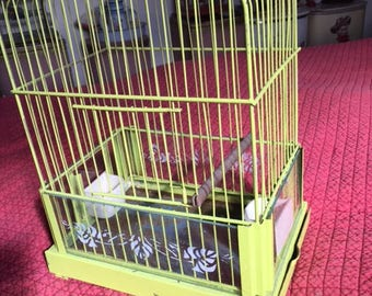 Vintage  Bird Cage Birdcage deco  Antique Bird Cage Hendrix ? metal