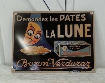 Metal advertising poster.