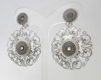 Earring Clip Anoda white (made in France)