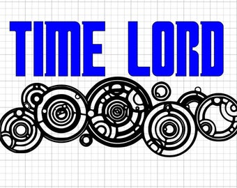 Doctor Who Time Lord SVG EPS DXF Studio3  Cut Files