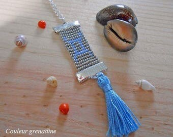 Woven necklace astrological sign Gemini, idea cadeauSaint Valentine's day, mother, grandmother, Easter