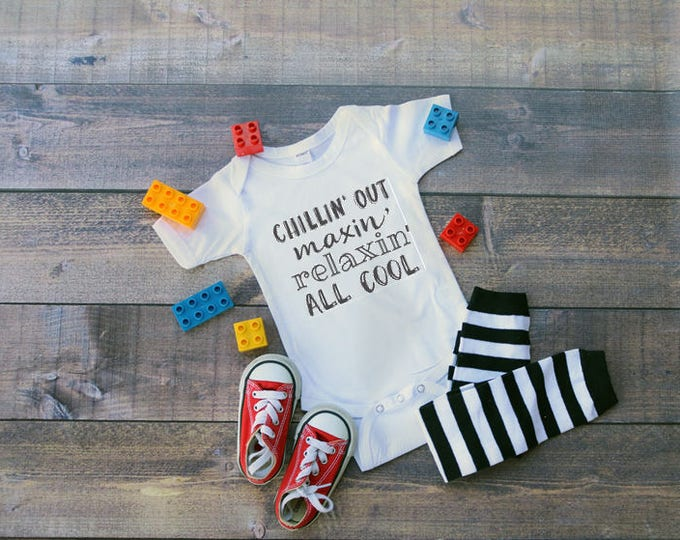 Chillin' Out Bodysuit, Fresh Prince Shirt, Funny Kids' Tee, Unisex Kids' Clothing, Gifts For Kids, Baby Shower Gift