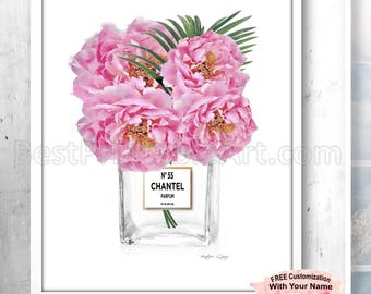 Printable Art Peony Print Peonies Wall Art Vanity Art Print Blush Pink Decor Bathroom Decor Bathroom Decorating Bathroom Art Poster Blush