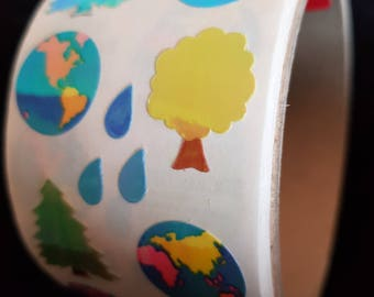 Plastic sticker roll with 50 breaks nature