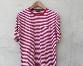 Vintage Stripe Pocket Tshirt