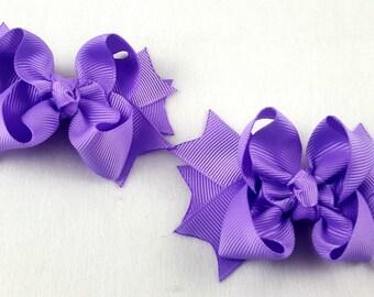 Lavender Mini Hair Bows-Set of 2/Hair Accessory/Little Girl Hair Bow/Toddler Bow/Lavender Hair Bow/Mini Hair Bows/Pig Tail/Piggy Tail Bows