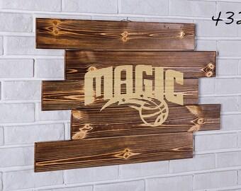 Orlando Magic Wood Sign Orlando Magic Wall art Orlando Magic Gift Orlando Magic Birthday Orlando Magic Party wooden