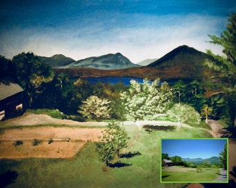 Custom Paintings from Photo, Acrylic Painting on Canvas, Scenery, Nature, Landscape Painting
