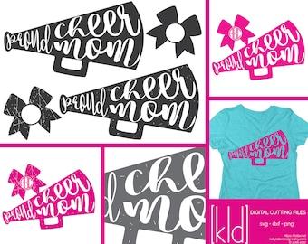 4 Proud Cheer Mom svgs - Cheer Mom svg - Cheer Megaphone svg - Cheer Mom Shirt svg - Cheer Mom Decal svg - Cheer svg