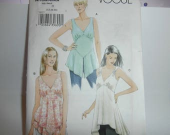 Vogue Sewing Pattern V8077 Woman's Tops Size 12-16