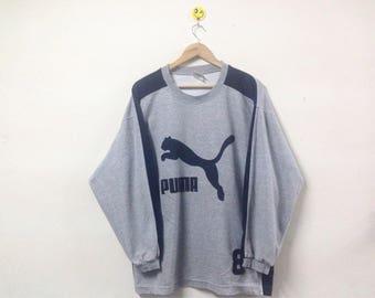 Vintage Puma Sweatshirt Big Logo