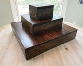 Rustic Wedding Cupcake Stand - 1 -3 Tiers Custom Made to Order