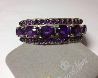 Reserved for Elise Amethyst Sterling silver bracelet # 2011