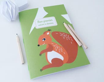 Book for children 14x20cm illustrated little red squirrel