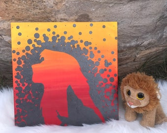 Lion King painting//Simba Painting//Disney Room Art//Jungle Room Art