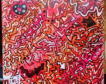 Urban Summer. 10x10 acrylic on canvas.
