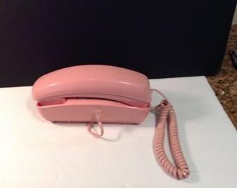 Pink Wall Phone Telephone Model TL-5/Tps  CUTE