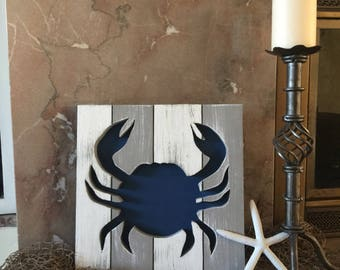 Crab Decor Rustic Crab Nautical Crab